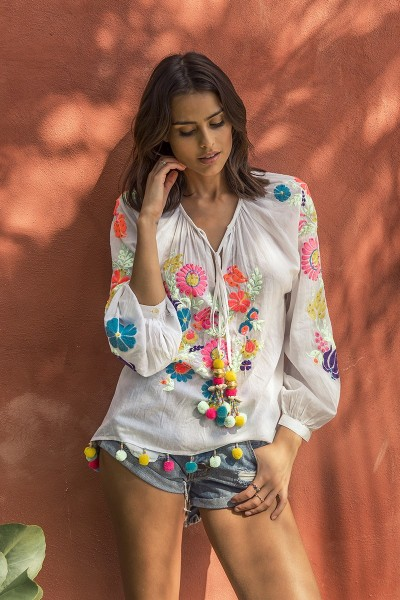 TUNIC FLORES
