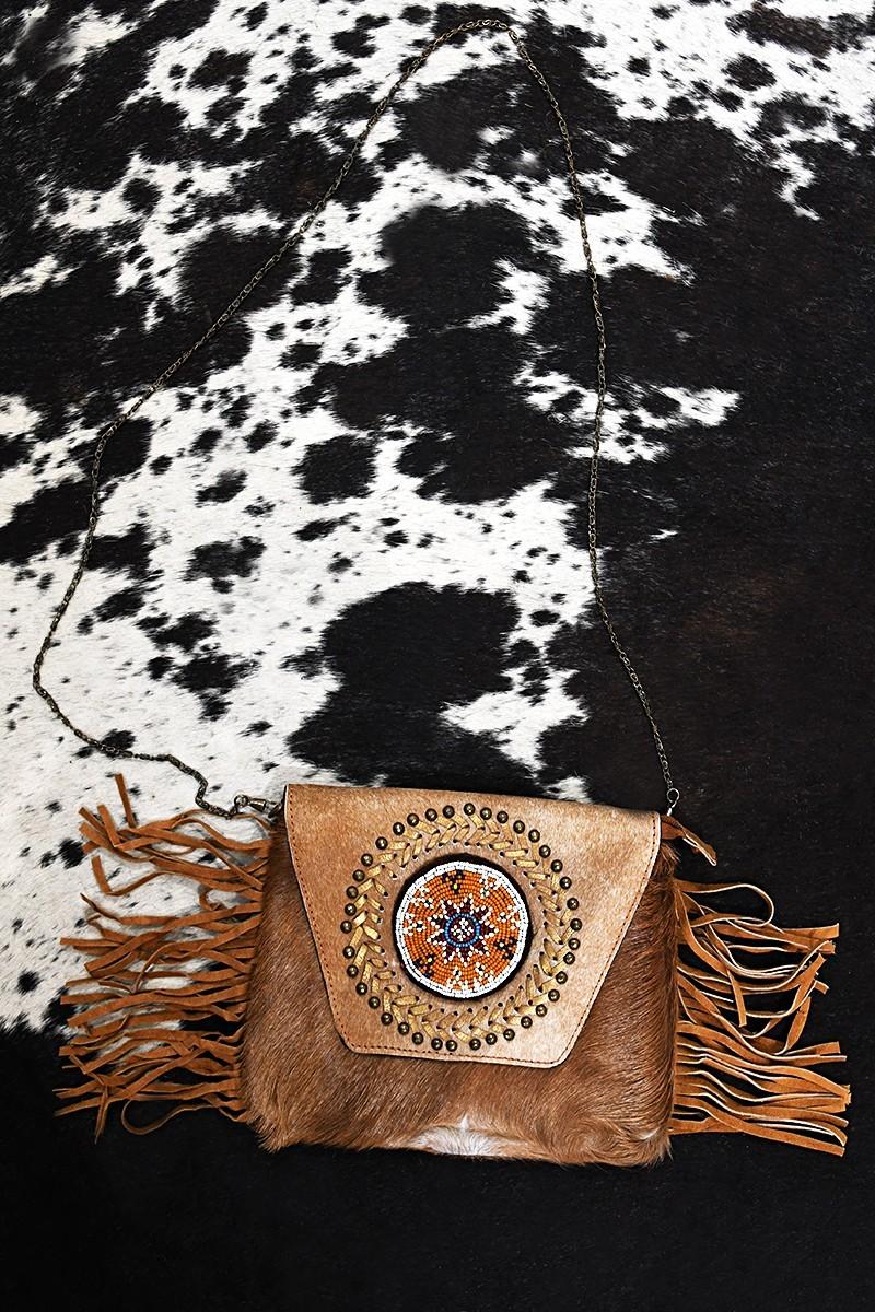 Bag with fringes